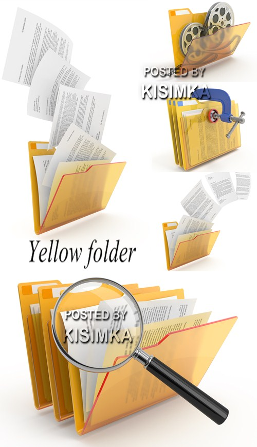 Stock Photo: Yellow folder