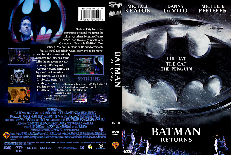 A custom DVD cover I made for BATMAN RETURNS posted by ...