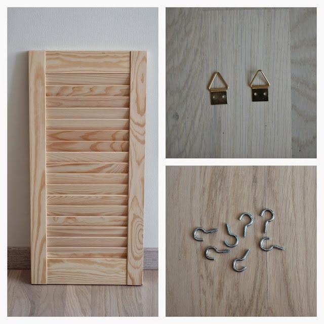Shutter Wall Organiser | Materials