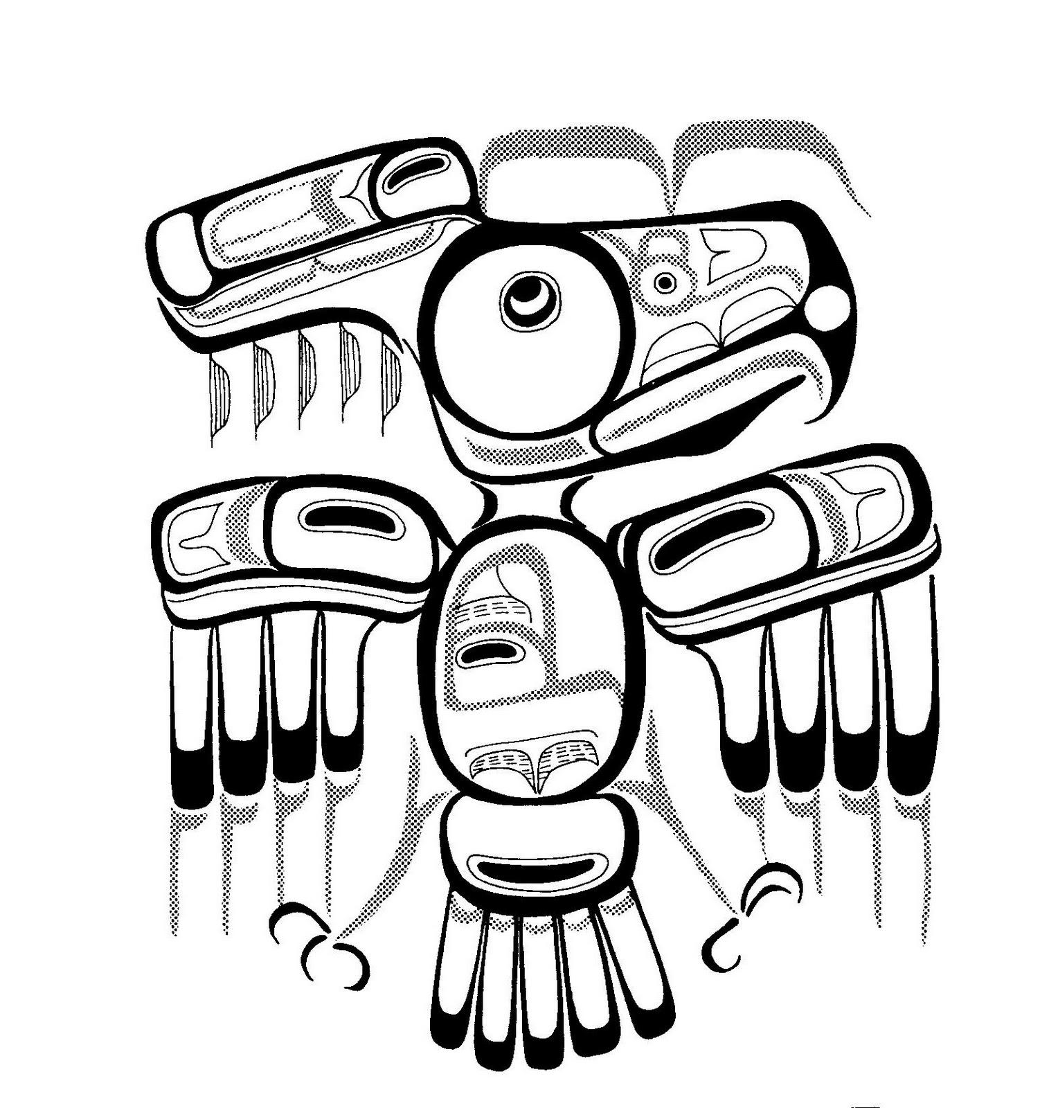 Mandalas Para Pintar: Águila Haida (Indios norteamericanos)