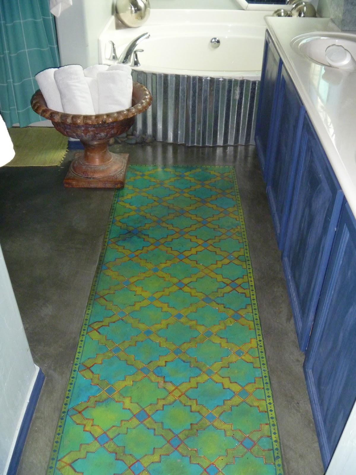 Paper Bag Floor In Kitchen