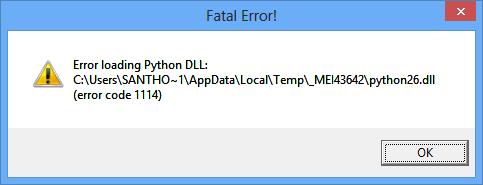 Google Drive Fatal error! Python26.dll