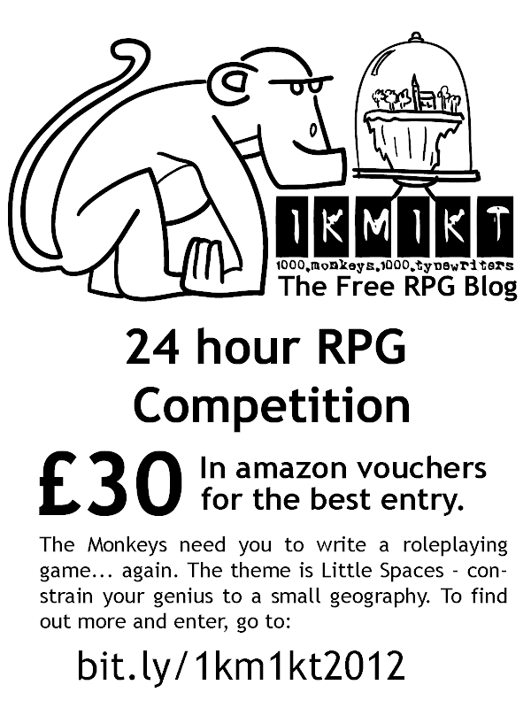 The 1km1kt 24 Hour RPG Competition - win £30 in amazon vouchers for writing a bit of madness in 24 hours!