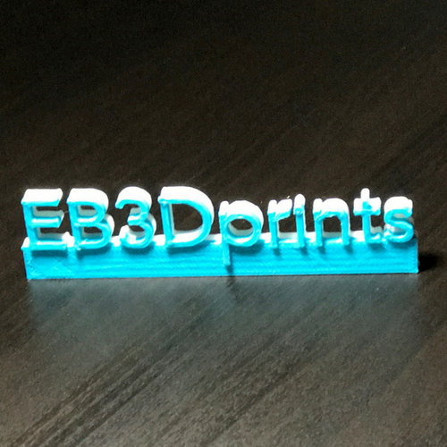 EB3D prints (1 Part)