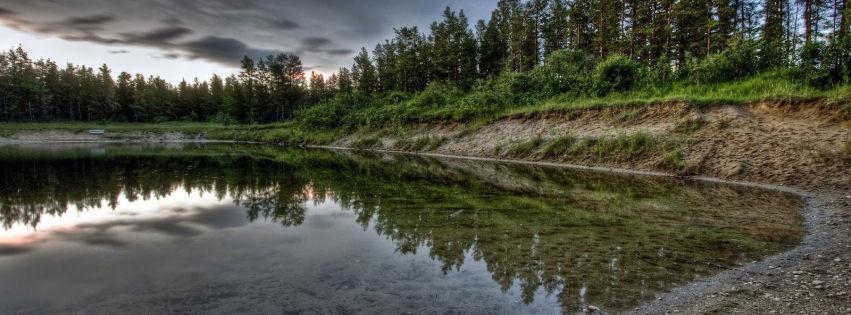 Gün batımı göl manzarası kapak fotoğrafları