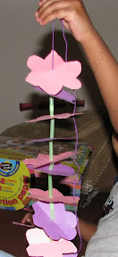 DIY Hawaiian Lei - Thread Paper Flowers and Cut Straws