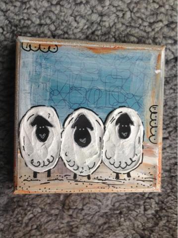 Ingen rädder för vargen -  Tre Får på sand - © Yes Design 2013