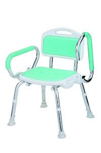 銀髮族適用上掀式扶手洗澡椅