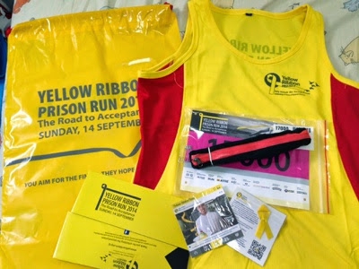 Yellow Ribbon Prison Run 2014, race pack collection