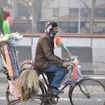 Vendeur mobile de balais, Delhi
