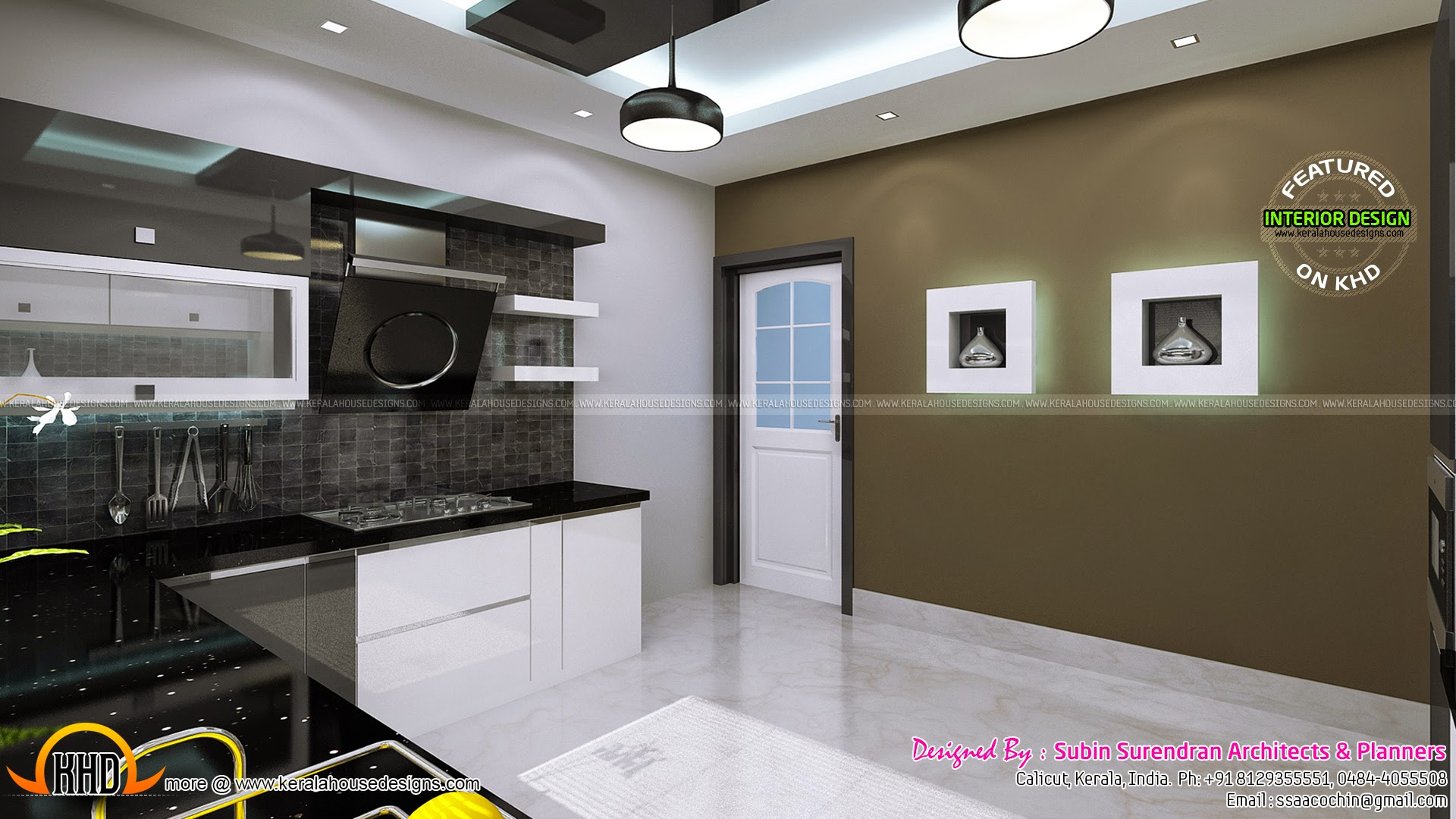 Interior bedroom kitchen dining kerala home design for Kitchen and bedroom designs