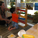 LePort Preschool Huntington Beach - Tracking balls at Irvine Montessori childcare for babies