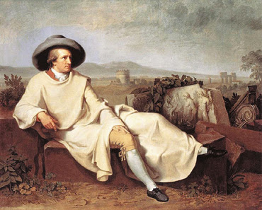 Goethe in der Campagna - Tischbein