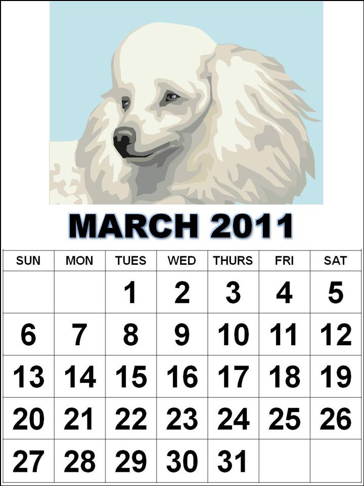 Cute March 2014 Calendar Printable Cute March Printable Calendar