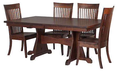 "70"" x 46"" Huntington Table and Lancaster Chairs in Winter Walnut"