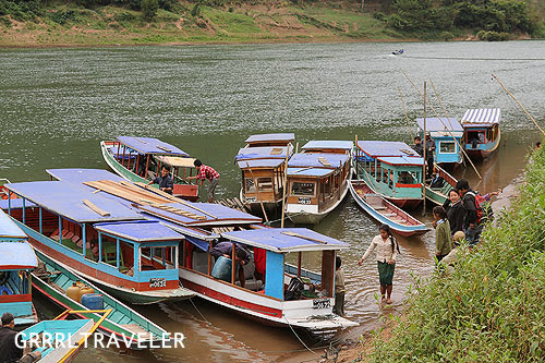 getting to nong khiauw, taking the nong khiauw boat to muong ngoi, laos landscape