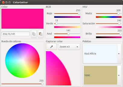 Capturando colores con ColorGetter en Ubuntu