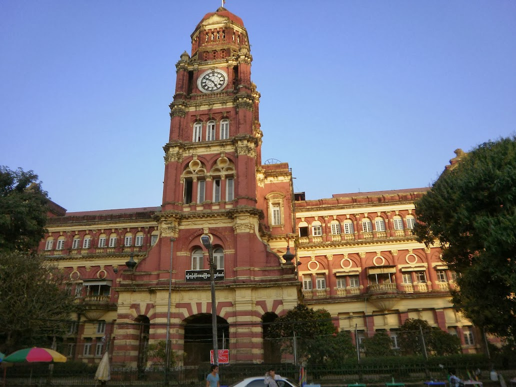 Burma's colonial High Court building in Yangon