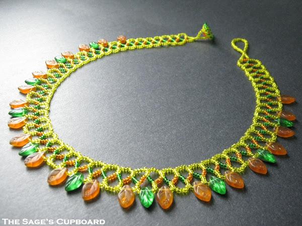 Golden Leaf Collar Necklace