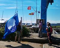 Blåt flag må hejses i mastekranen, da flagspillet er godt fyldt op