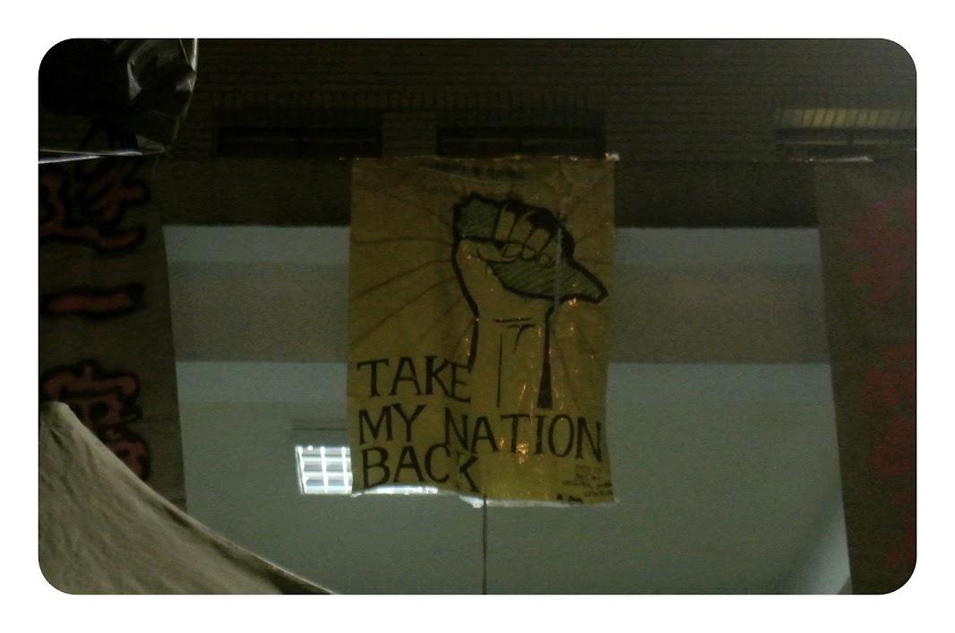 pancartas en el congreso de Taipei