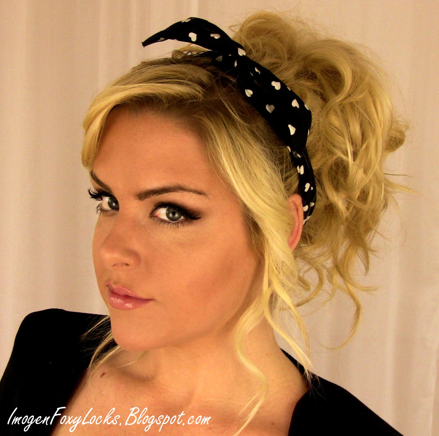 Imogen Foxy Locks Rihanna Inspired 80s Curly Up Do Hair Style Tutorial