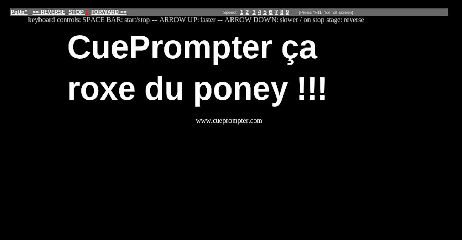 logiciel prompteur