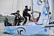 J/80 Interface Concept team sailing in France