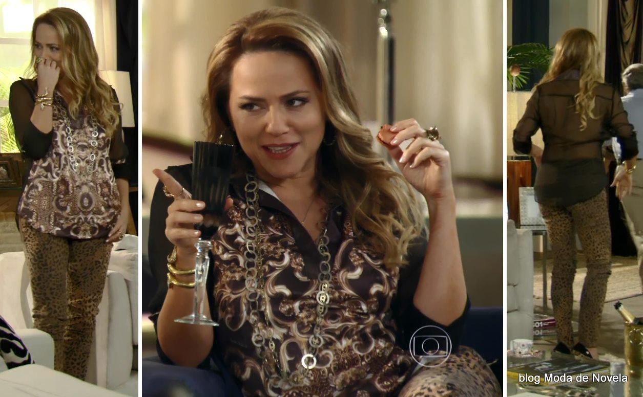 moda da novela Em Família - look da Shirley dia 15 de maio