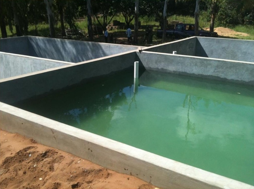 Fish for hope the fish tanks are complete for Fish farm tanks