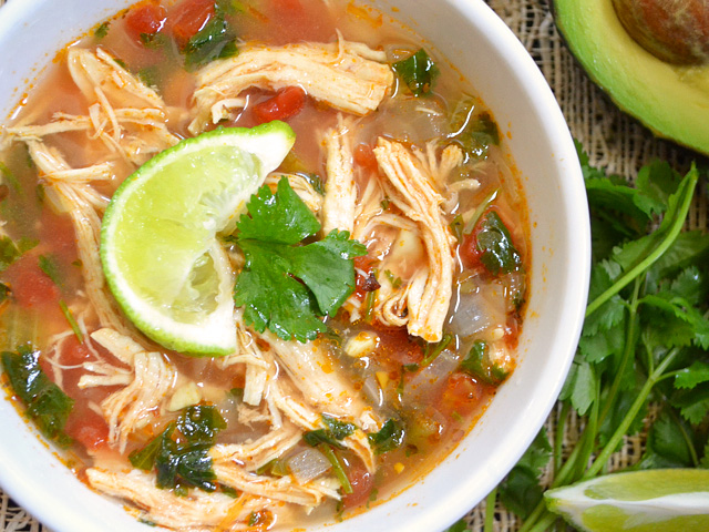 Chicken and Lime Soup - BudgetBytes.com