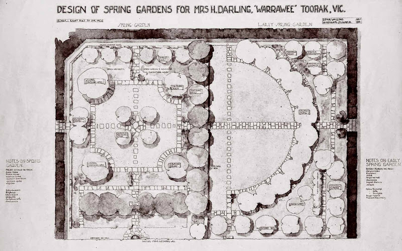 "Design of Spring Gardens for Mrs. H. Darling, ""Warawee"" by Edna Walling Jul, 1931"