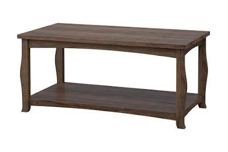 Cascade Coffee Table in Weathered Maple