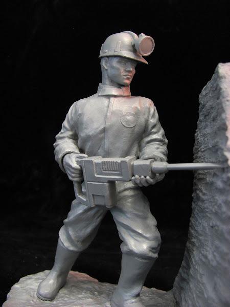 Copia en resina del Minero de Zipaquirá