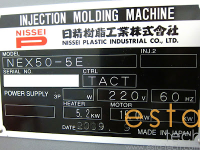 Nissei NEX50-5E (2009) Electric Injection Molding Machine