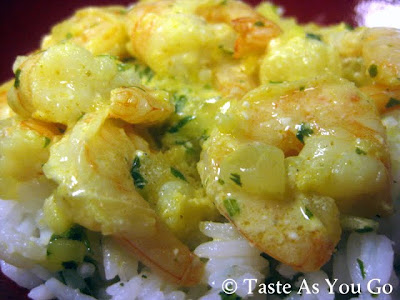 Curried Shrimp with Cilantro Lime Rice - Photo by Michelle Judd of Taste As You Go