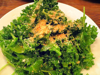 Life of Pie's surprise right hook: Kale & Arugula with parmesan and honey lemon vinaigrette packed an addictive punch with its light dressing that enhanced the kale and arugula and the parmesan to add texture like a breadcrumb topping of a mac and cheese- but all over your salad!