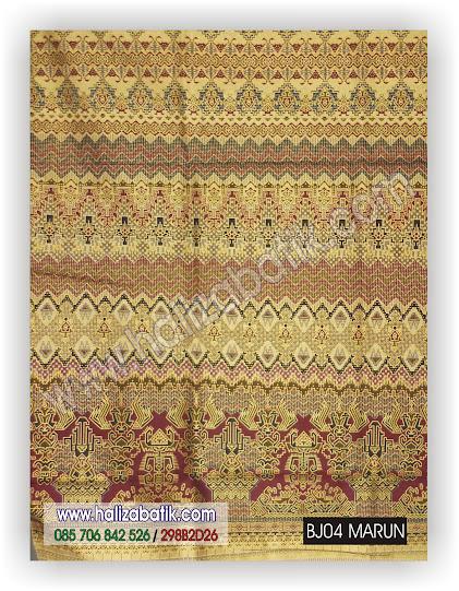 Kain Batik Pekalongan, Kain Batik Murah, Gambar Model Baju Batik, BJ04 MARUN