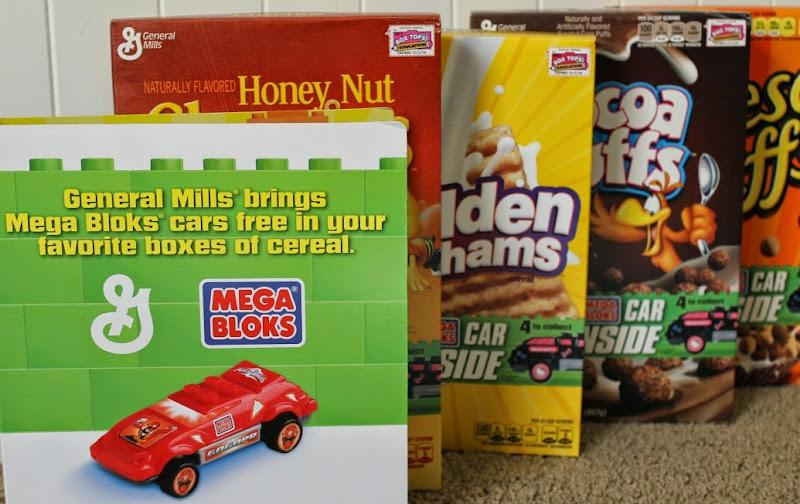 General Mills Big G Cereals with Mega Bloks cars inside