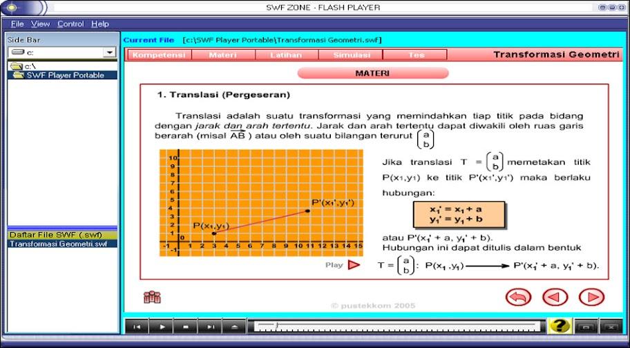 matematika sma, ma, smk, transformasi, geometri, jenis-jenis transformasi, bentuk-bentuk transformasi. Animasi dan simulasi transformasi