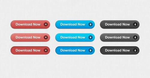 Free PSD - Download Buttons