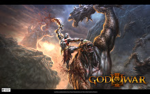 3 blade Kratos vs Titan GOW 3 Wallpaper