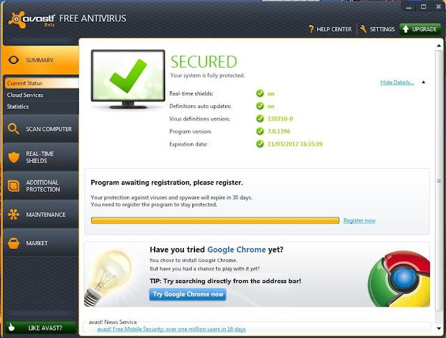 Avast 7 Beta Security