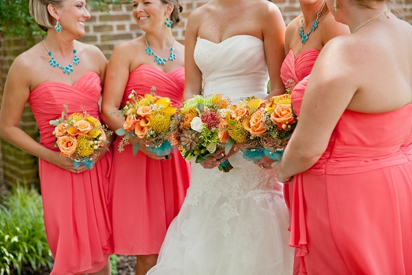 Coral and Turquoise Water Table Wedding by Amanda Manupella ...