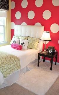 polkadots2 Polka Dots in a Teen or Tween Bedroom 9