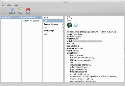lshw-gtk running in Xubuntu 12.04