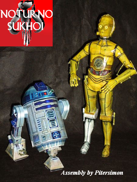 Star Wars Papercraft C3PO R2D2