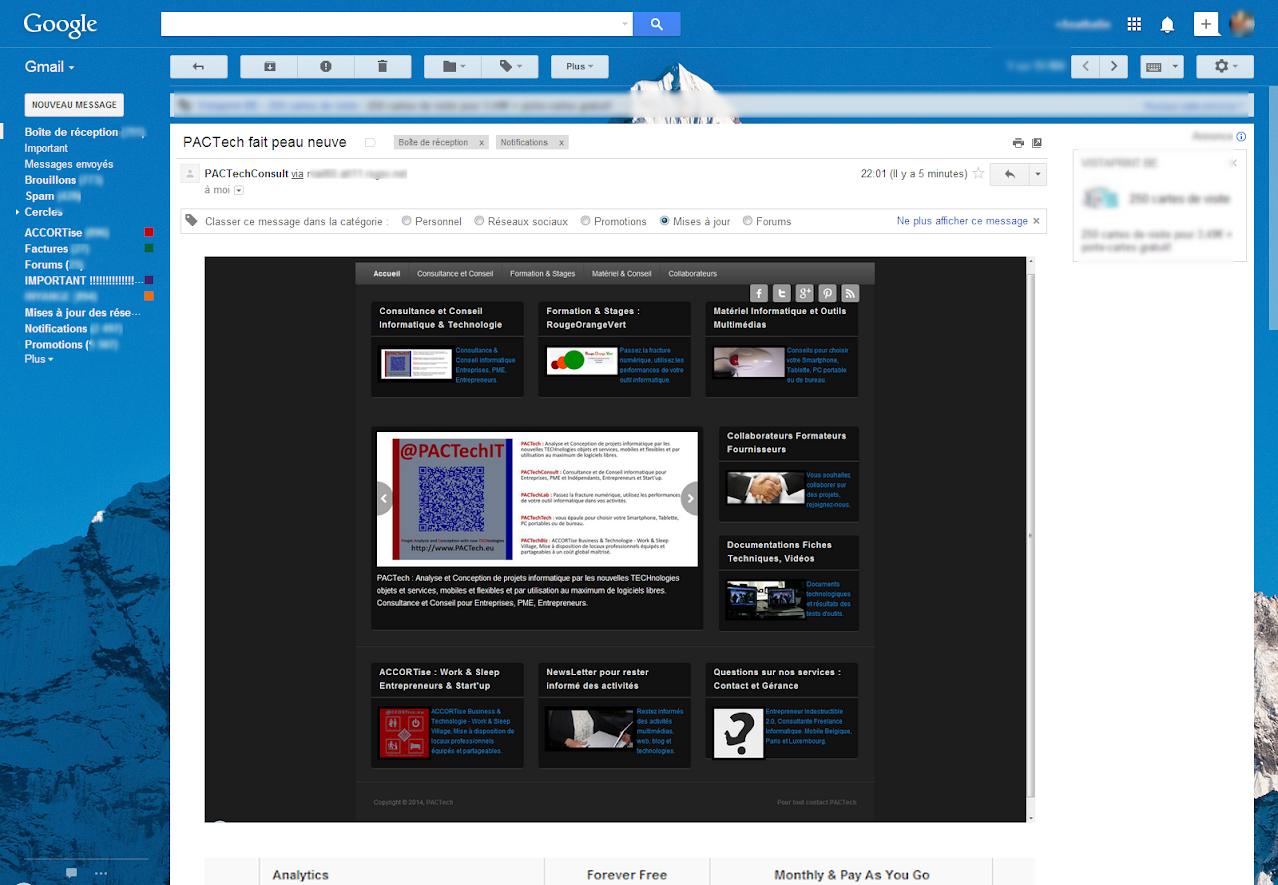 Mailchimp Campagne dans Gmail  Drupal NewsLetter Emailing ExpertE Formation RougeOrangeVert