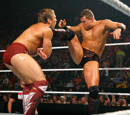 Sunday Night BRAWL [28/04/2013] The-Miz-Hitting-Powerful-Kick