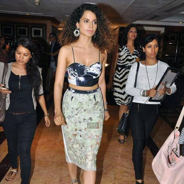 Kangana Ranaut arrives for Vogue Beauty Awards 2014, held at Hotel Taj Lands End in Mumbai, on July 22, 2014.(Pic: Viral Bhayani)